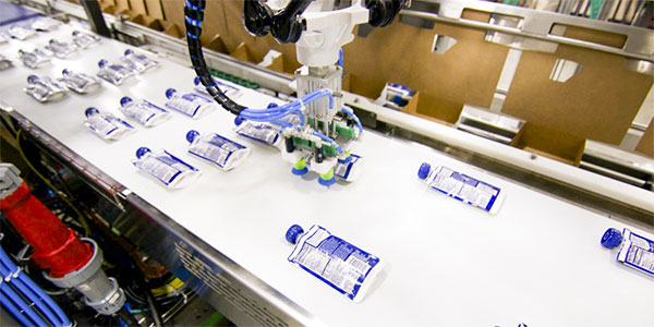 This Cartoning Machine perfectly integrates with Delkor's case packers