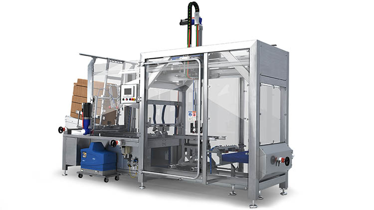 Beverage packaging case and tray erector Trayfecta G Series