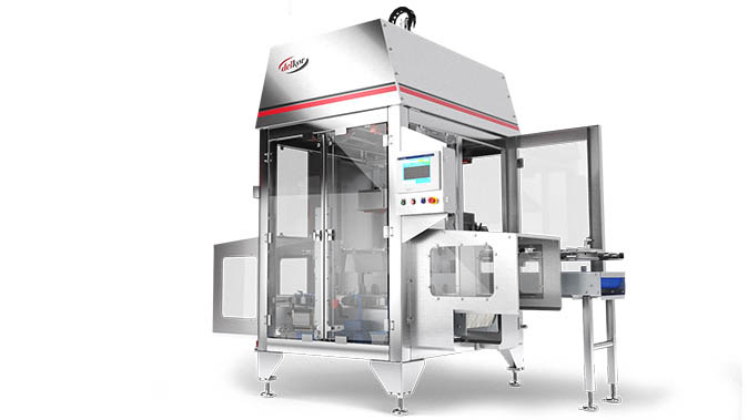 Beverage packaging flexible top loader from Delkor Systems