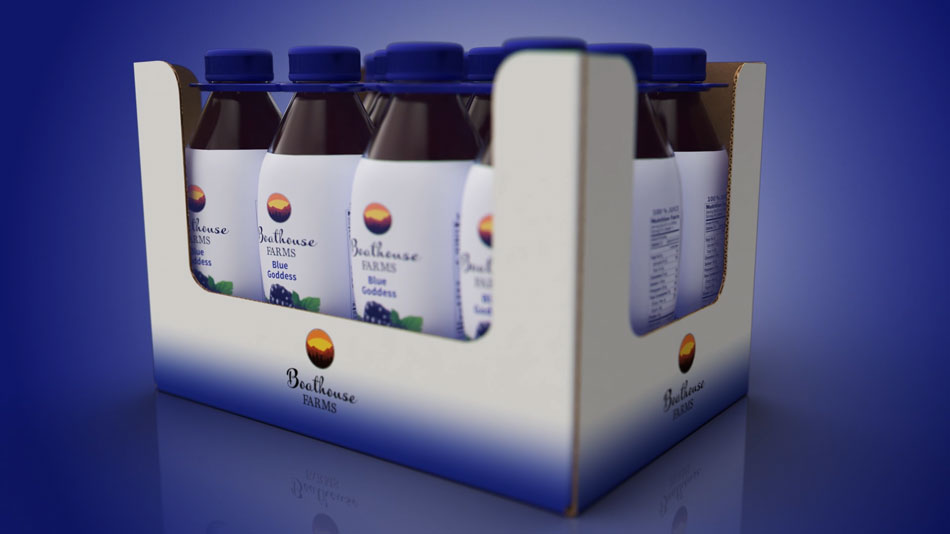 Beverage packaging retail ready tray design