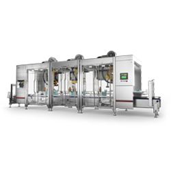 case former LSP Series robotic top loader for case erectors and stackable tray formers