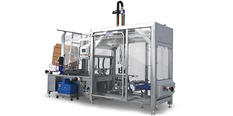 Caseload flexible Delkor packaging machines that can be compatible with multiple package designs