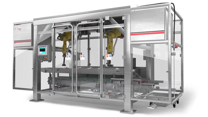 Club Store Packaging is compatible with Delkor's LSP Series robotic case packer.