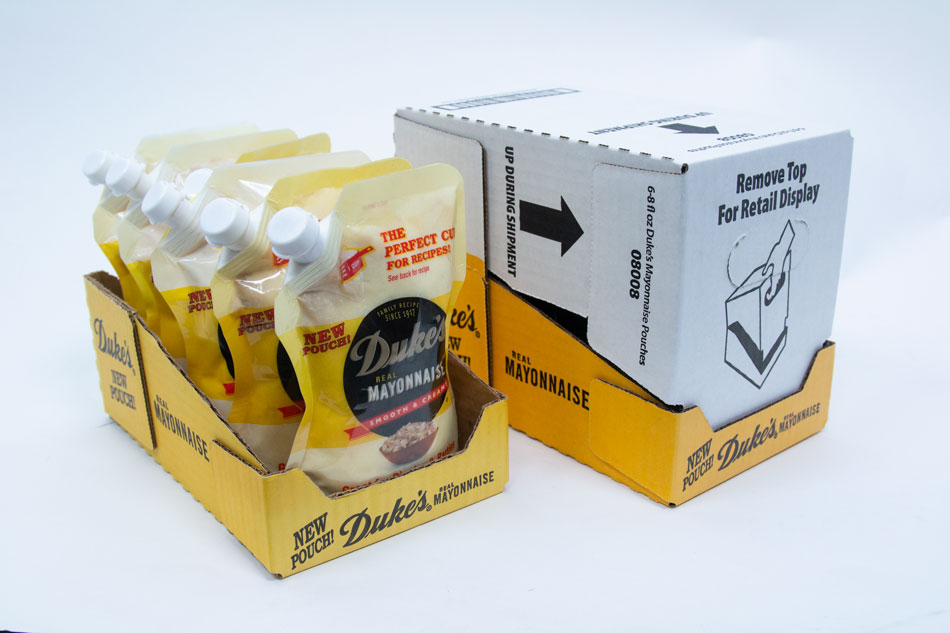 Condiment and sauce packaging retail ready design Delkor Cabrio Case