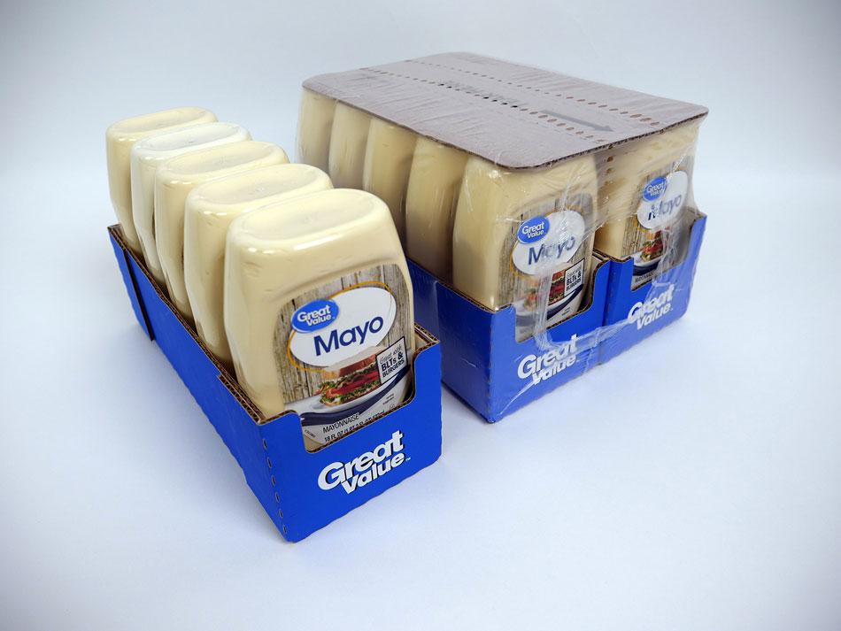 Condiment Sauce packaging shelf ready design Delkor Turbo Case