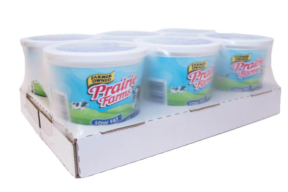 Dairy packaging cutout tray package format
