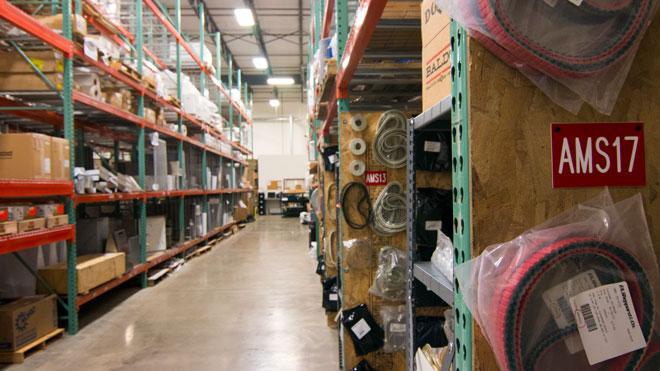 Delkor parts department warehouse