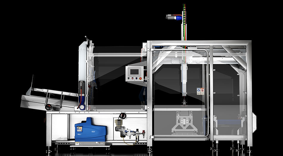 Flexible case packer that seamlessly integrates into Delkor's case erectors and sealers