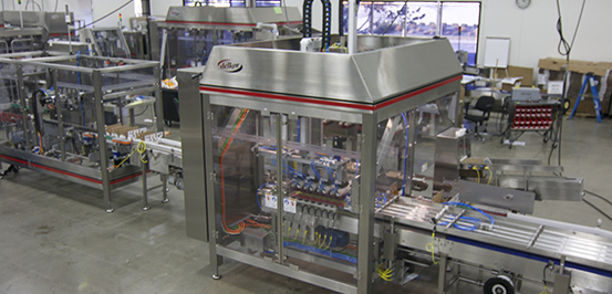 Fragile lid case packer offers customization for any packing configurment