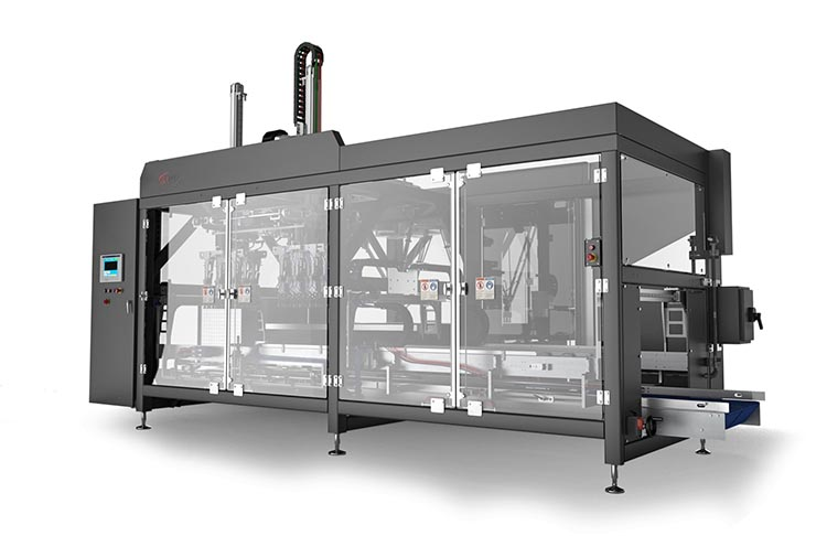 Meat packaging high speed case packer Delkor MSP-m Series