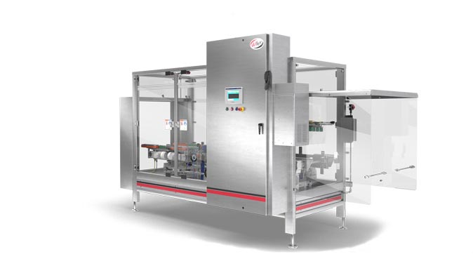 meat packaging automated case sealer Capstone F Series