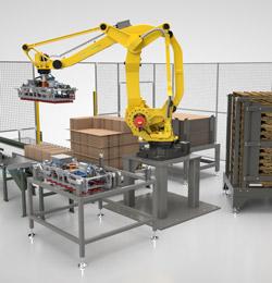 Packaging equipment palletizer
