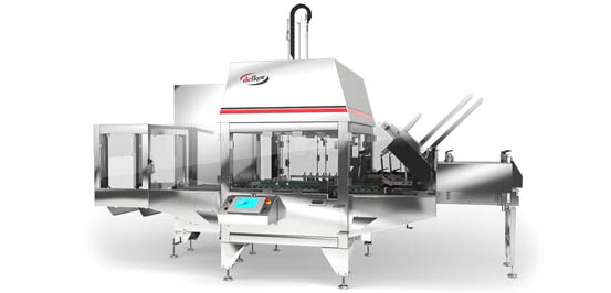Rigid case packer shrink wrapper Spot-Pak Machine