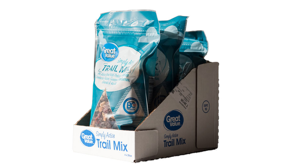 Seeds and nuts packaging shelf ready package design great value trail mix