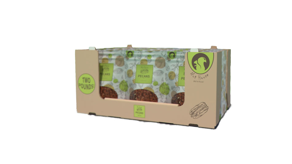 Seeds and nuts packaging stackable tray for club store