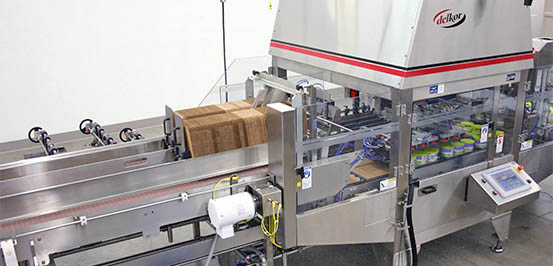 Shrink wrap machine with stainless steel construction for washdown protocols