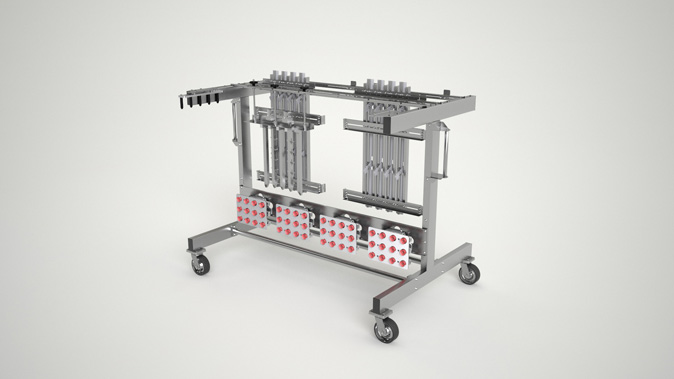 Upgrades and conversions Delkor tooling cart for better organization