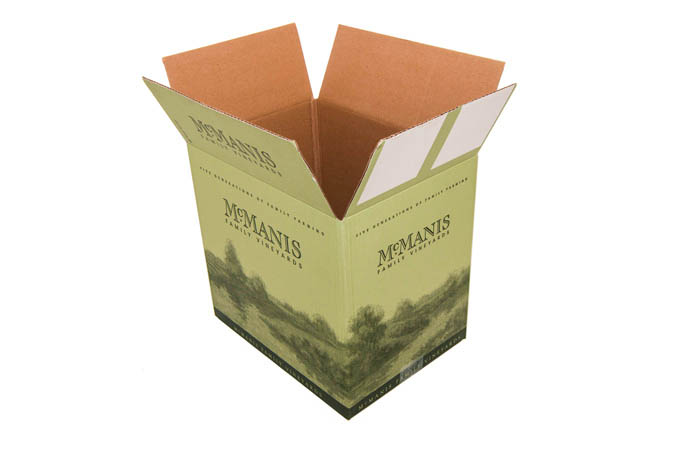 Wine packaging traditional case packs RSC and FSC designs