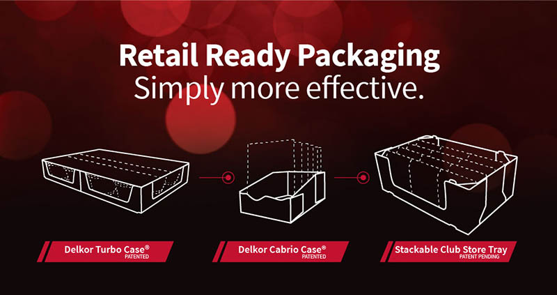 Aldi Packaging Guidelines compatible retail ready packages from Delkor